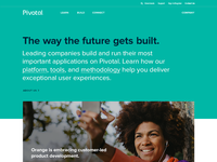Pivotal.io Updated Home Page