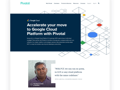 Pivotal Cloud Foundry + Google Cloud illustration isometric page website operators pcf gpc developers partnership partner cloud pivotal google