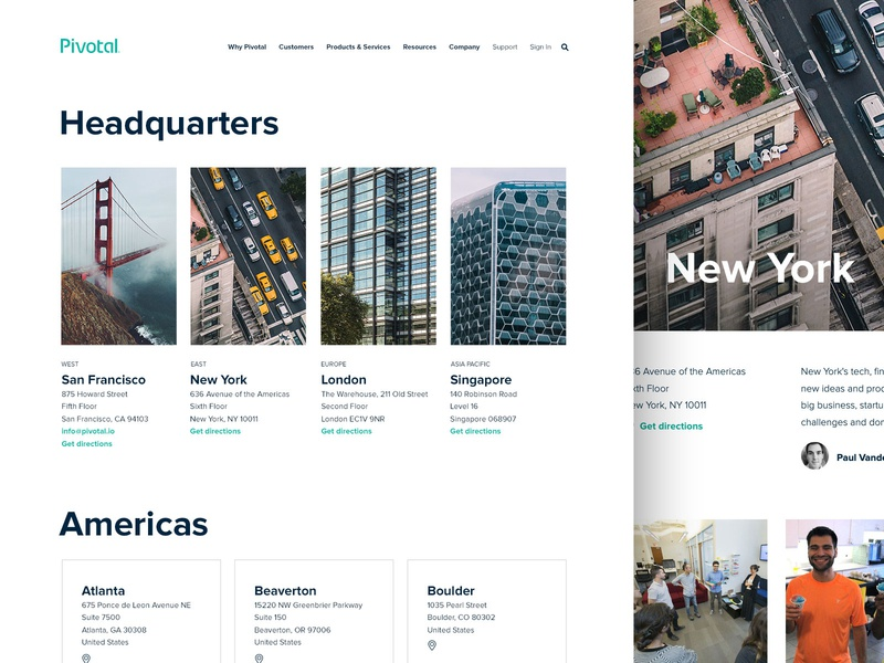 Company Locations company pivotal directions asia europe americas headquarters address simple clean singapore london san francisco new york locations offices