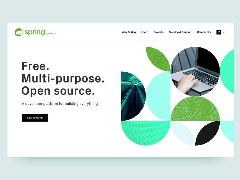 Spring Brand Sketch framework computer green illustration software enterprise developers pivotal open source photos patterns retro leaves java spring website