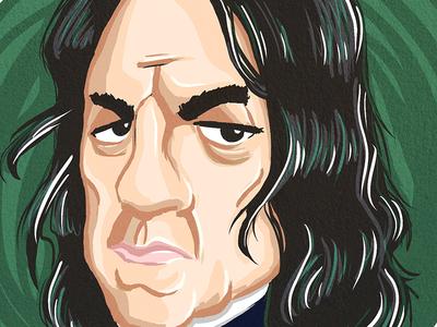 Alan Rickman alan rickman sketch rip tribute harry potter severus snape
