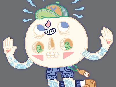 💠🐇💀🐇💠 Flying Skullhead 💠🐇💀🐇💠 plateau arthur arthurplateau kawaii cute skull illustration design character