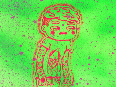 ✨☄️👽☄️✨ Lost in the Surroundings ✨☄️👽☄️✨ cute design character arthurplateau illustration silkscreen surroundings lost aerosol screenprint