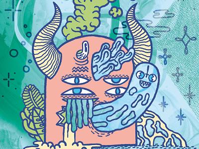 🌱🤢👻😈👻🤢🌱 Dæmon Soul 🌱🤢👻😈👻🤢🌱 666 horn monster digital corail pastel ghost burp soul demon daemon