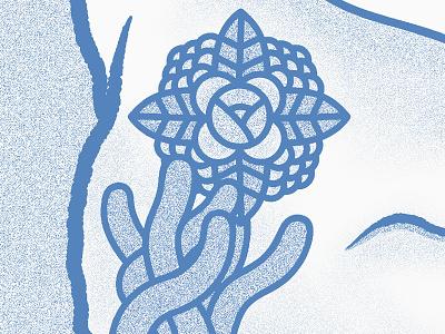 🌱🌼🌷🌼🌱 Flower detail 🌱🌼🌷🌼🌱 illustration texture color monochromme blue nature plant shape geometric flower