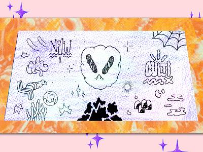 💜🍊💜 Alien 💜🍊💜 sparkle aesthetic newcult cult new et visual art digital alien