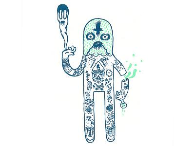 🐛🤘🏿👻🤘🏿🐛 MetalHead 🐛🤘🏿👻🤘🏿🐛 illustration inverted cross tattoo ghost black doom dark head metal metalhead