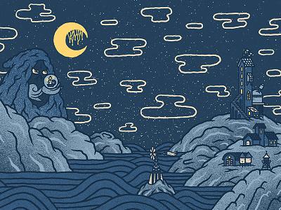 ✨🌟🌌🌑🌌🌟✨ Midnight ✨🌟🌌🌑🌌🌟✨ spirit ghost blue illustration light creature nightmare night midnight