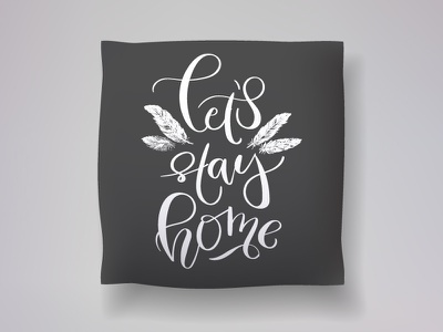 Realistic 3d throw pillow model throw pillow lettering calligraphy 3d model cushion pillow