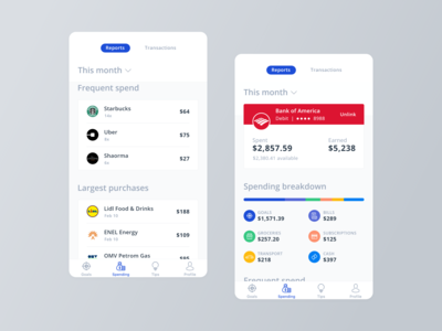 Crush It Mobile App - Spending