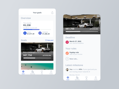 Crush It Mobile App - Goal Screen