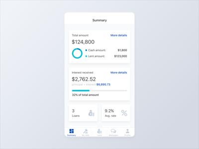 Lending Mobile App - Summary Screen