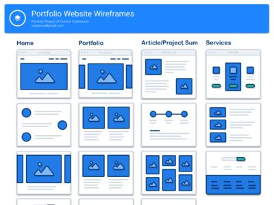Portfolio Website Wireframes