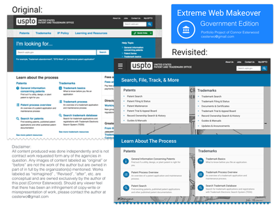 Extreme Web Makeover - US Patents & Trademarks Landing government trademarks patent .gov web extreme web makeover