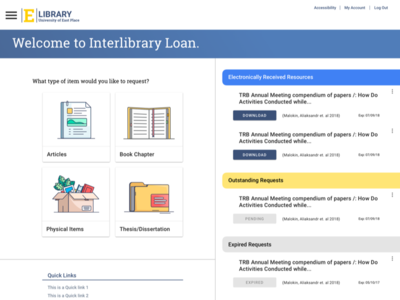 Interlibrary Loan Interface