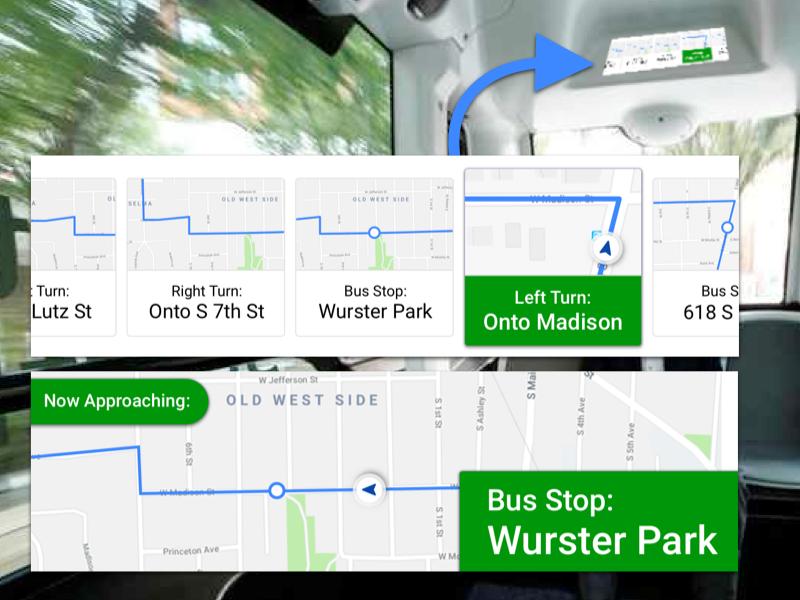 AV Bus Navigation Panel freebie free maps map navigation autonomous transit bus self-driving av bus