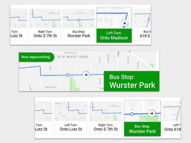 AV Bus Navigation Panel free freebie maps map navigation autonomous transit bus self-driving av bus