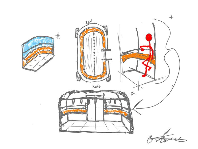 Autonomous Bus Interior - Seating (Leaning) self-driving autonomous shuttle stand leaning bus seating av av bus