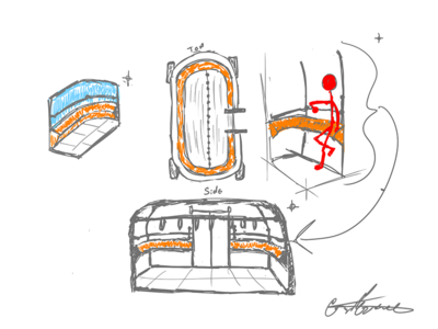 Autonomous Bus Interior - Seating (Leaning)