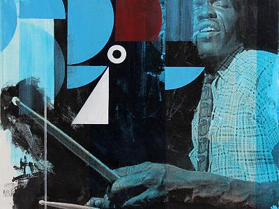Elvin's Improvisation painting jazz drummer drums elvin jones improvisation visualization
