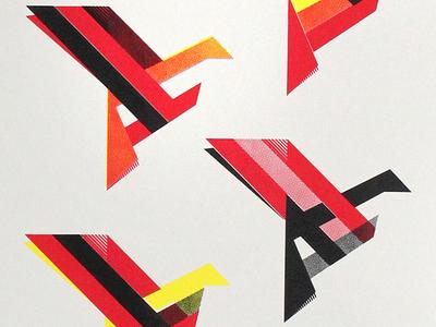 """Orbital Quintet Posters - 11""""x30"""" screen prints"""