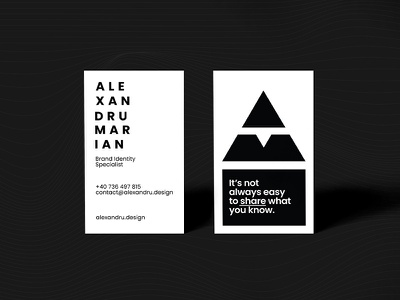Business Cards alexandru pen logo typography design identity branding