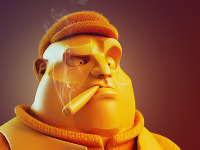 Cool guy cgi blender sculpting 3d character