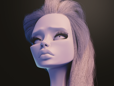 Jane cgi blender sculpting 3d character