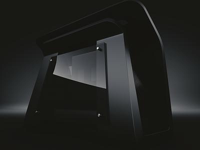 Computer Case Concept 3d cgi case industrial design product design