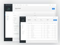 online invoicing / dashboard