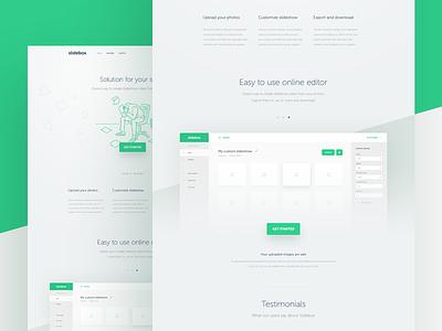 landing page homepage layout minimal landing grid responsive clean onepage