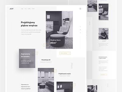 A7 interior design / home homepage layout minimal landing grid responsive clean onepage