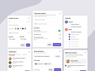 Modals collection minimal product design desktop uiux ui modal