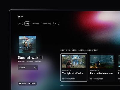 Game details view gaming productdesign tv ux ui