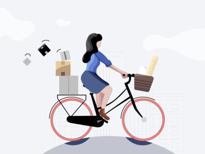 Biking outside