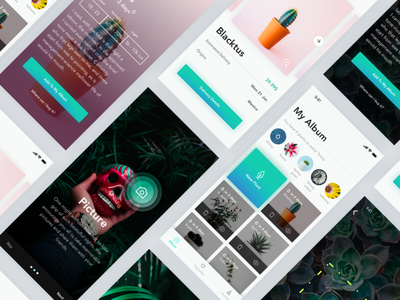 Injared plant recognition and watering mobile apple iphone x minimal album tropical plants tech ar ux ui