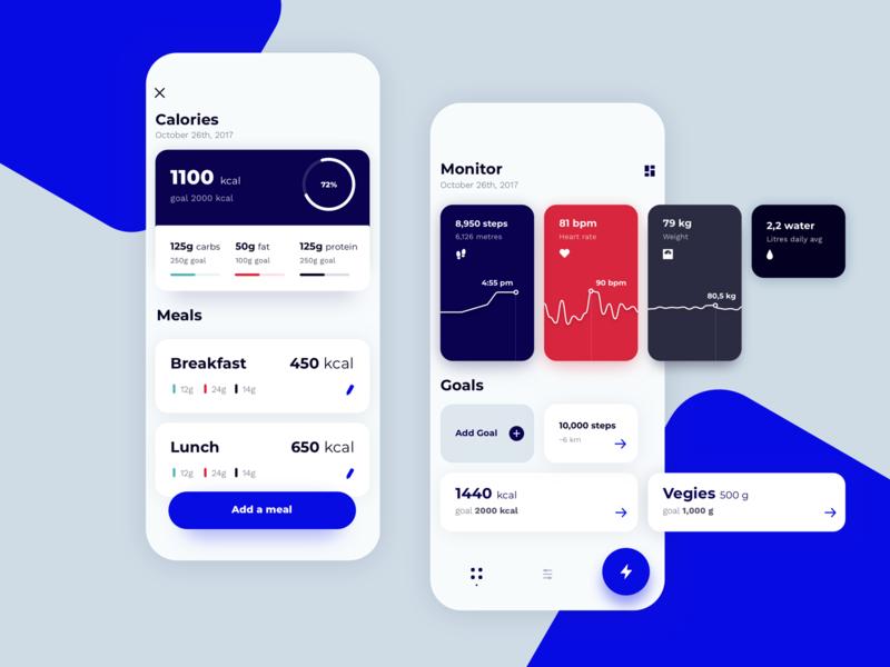 Fitness app concept