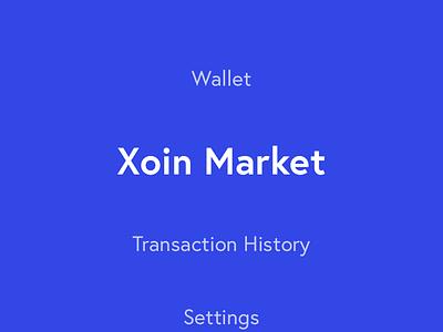 Xoin wallet app market hamburger ux ui minimal apple iphone x mobile wallet