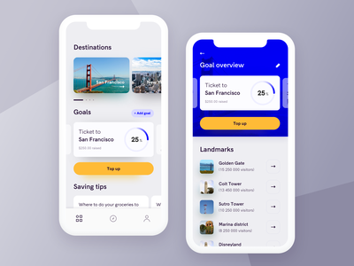 Travel app cards minimal product iphone x ios mobile uiux ui