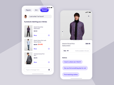 Personal shopping helper uidesign fashion minimal ui design iphone ar mobile uiux ui