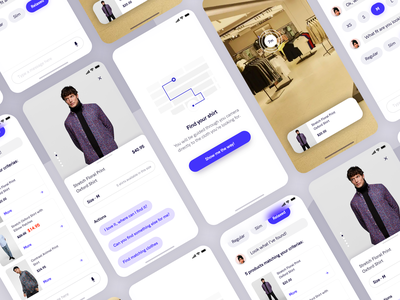 Personal shopper chatbot minimal fashion iphone uidesign ux uxui