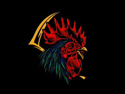 Fighting Cock drawing logo graphicdesigner illustrator illustration