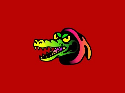 REPTILIAN graphic design character art crocodile animal chamuco design characterdesign illustration