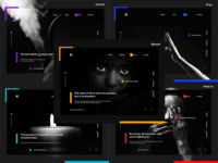 Dark Landing Pages UI Collection