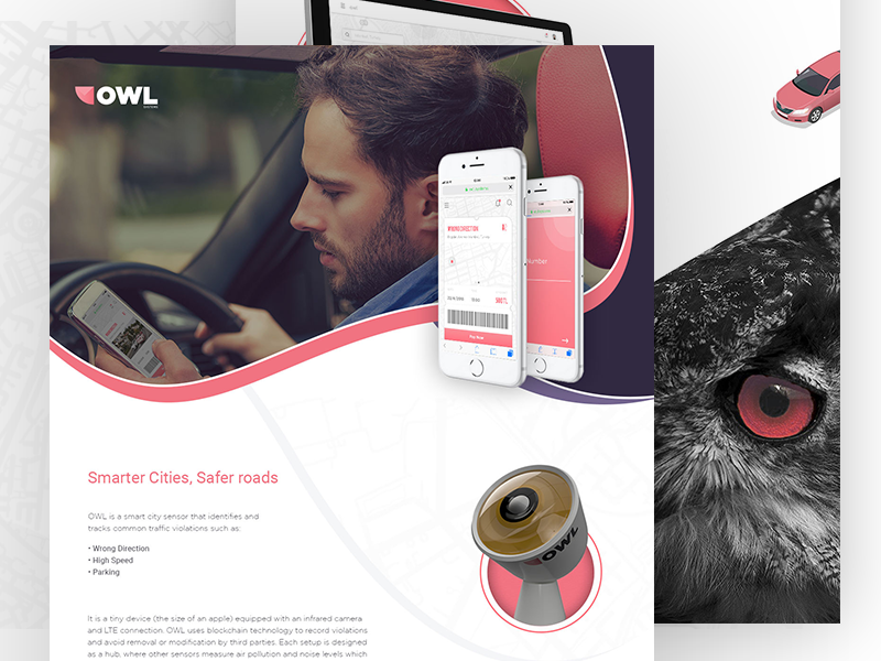 Owl Systems concept traffic ui design ux productdesign product system sensor smartcity