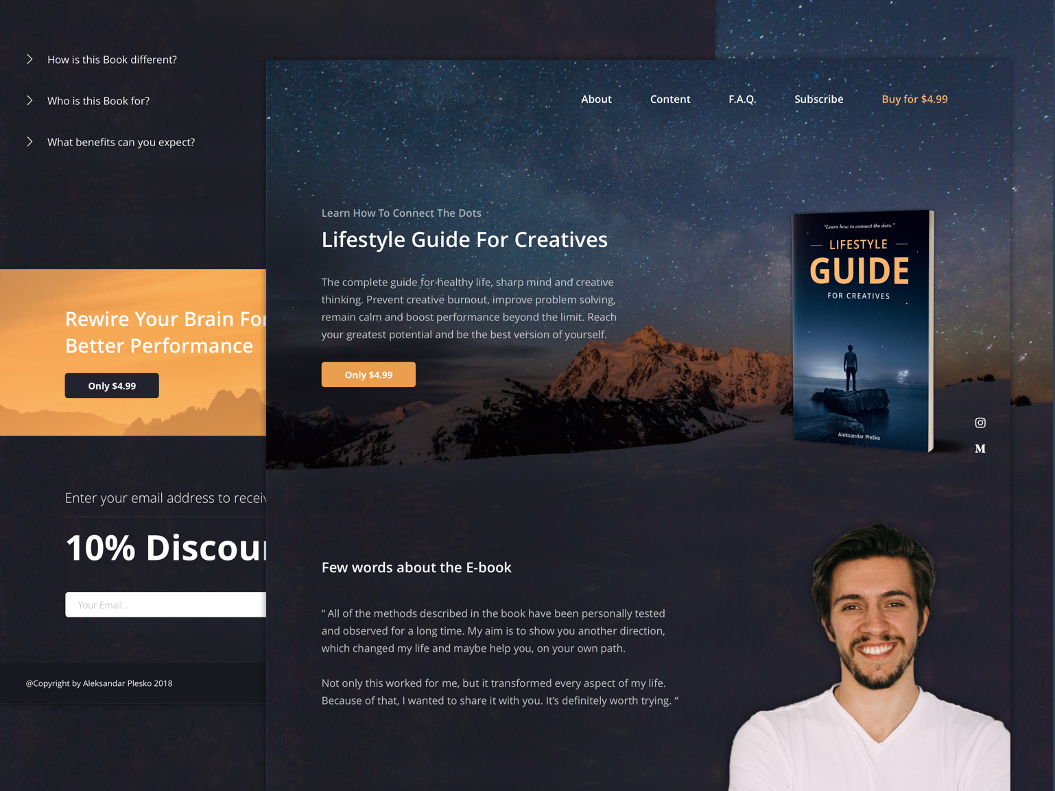 Lifestyle Guide For Creatives ui design ux ui web page website lifestyle creatives designers ebook book