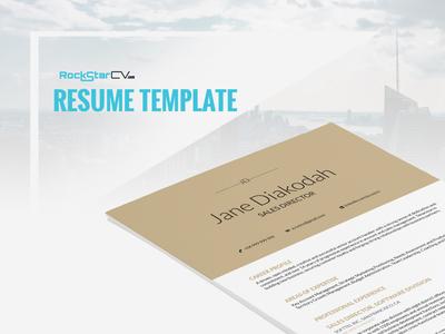 Resume Template Diakodah