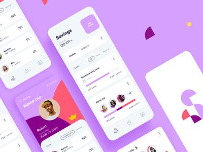 Spiff Mobile UI wallet iphone ios app saving finance money application mobile ui design ui