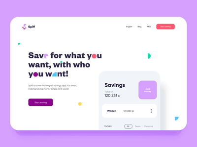 Spiff Landing Page - Animation webanimation app web brand landing page logo motion branding graphic website animation design ui