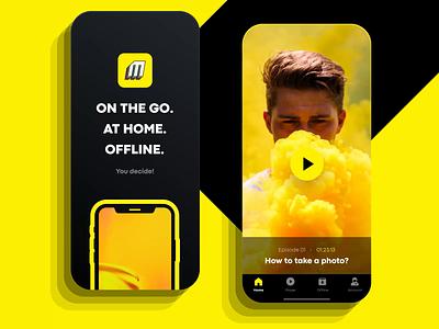 VOD Platform mobile mobile ui mobile figma application video app vod graphic design animation motion ui
